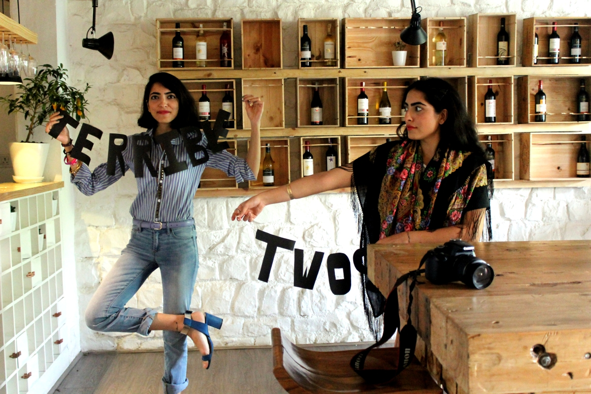 Zina & Zoya Singh - Twin Fashion Bloggers, Artists and Stylists at Terrible Twos